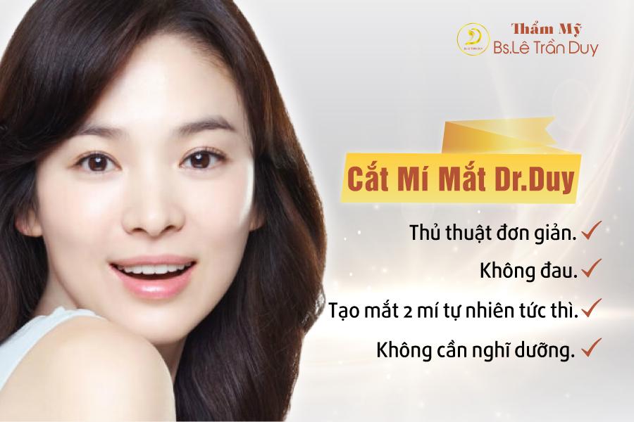 Nên trải nghiệm công nghệ thẩm mỹ mắt cùng chuyên gia thẩm mỹ Bác sĩ Lê Trần Duy
