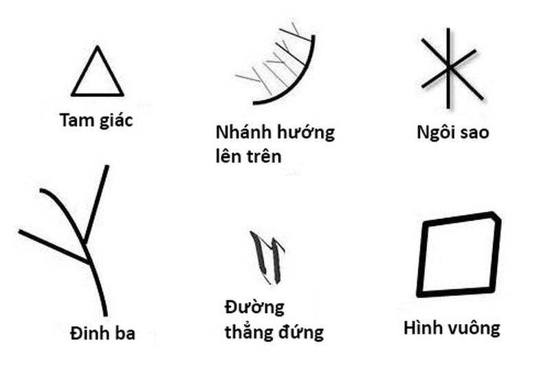 Lòng bàn tay có hình tam giác