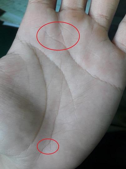Những dấu hiệu đặc biệt trong lòng bàn tay