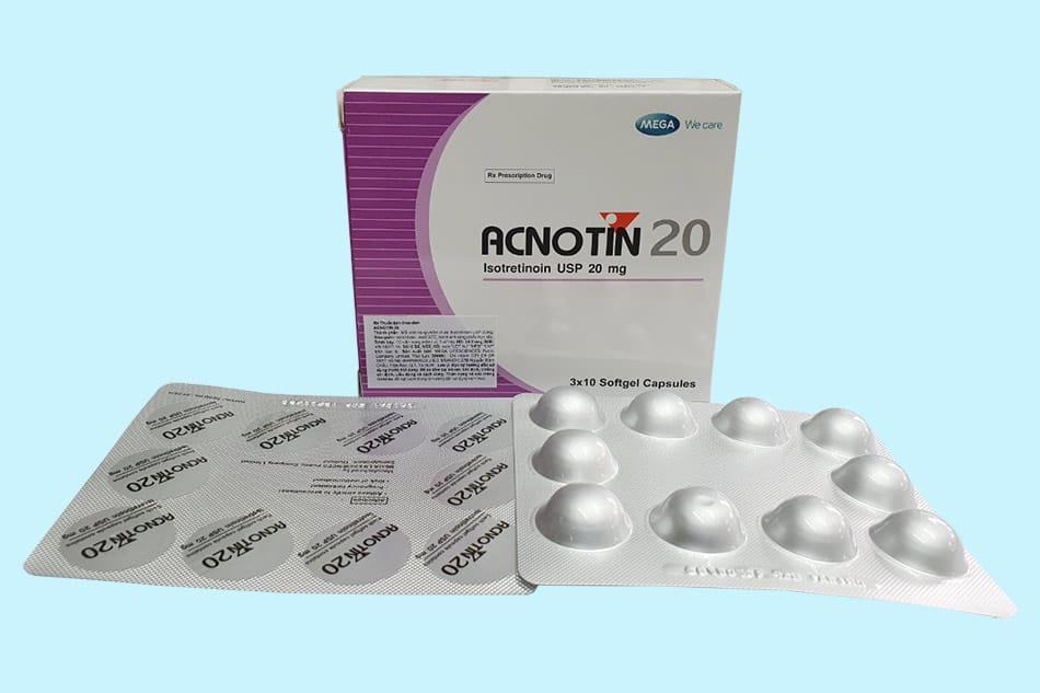Uống acnotin bao lâu thì hết mụn